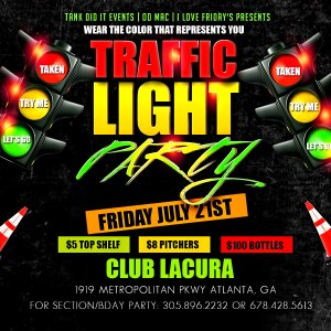 Traffic Light Party Flyer